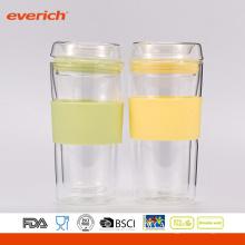 Summer Best Selling Easy Cleaning Coupe en verre coloré avec logo personnalisé