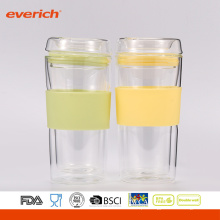 Summer Best Selling Easy Cleaning Copo de vidro colorido com logotipo personalizado