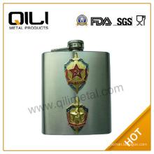 6oz FDA sand finish russia flask