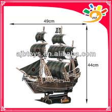 3D Paper DIY Jigsaw Puzzle Blackbeard's ship the Queen Anne's Revenge Model Puzzle Game