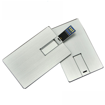 USB Flash Drive Silver Metal Card