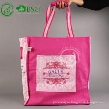 Bolso de mano promocional reutilizable del algodón de la bolsa de asas