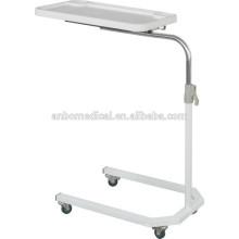 2015 регулируемый стол на колесике над кроватью многофункциональный стол ABS верхней доски
