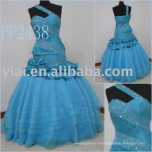 2011 manufacture free shipping one shoulder beaded sexy ball gown prom dress 2011 PP2438