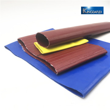 Red/Yellow and Blue Color PVC Agriculture Lay Flat Hose Pipe
