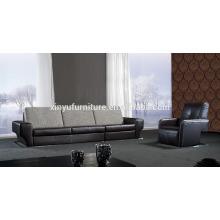 Modern black leather sofa furniture KW354