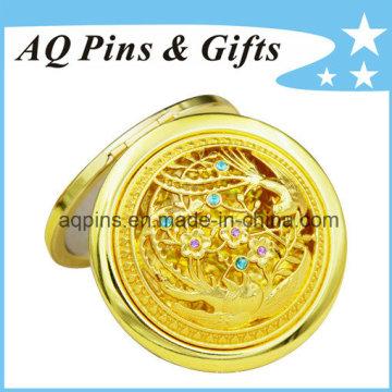 Espejo cosmético de alta calidad con chapado en oro