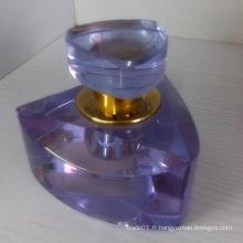 Bonne bouteille de verre parfumé avec une belle marque sur la promotion et la recherche de cristal