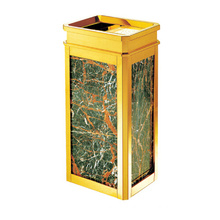 Stainless Steel Waste Bin with Ashtray for Lobby (YW0045)