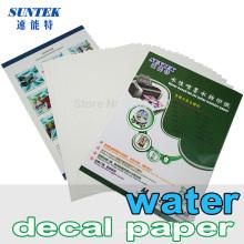 Papel de impresión de la transferencia de la etiqueta del tobogán acuático para el clavo de cristal de cerámica