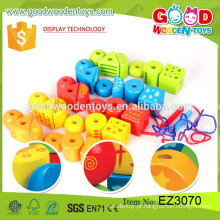 2016 brinquedos de cubo educativo de venda quente brinquedo de madeira colorido colorido de diadema