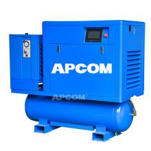 APCOM high pressure all in one laser cutting screw air compressor 16 20 bar for laser cutting machine metal