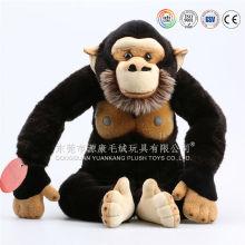 Black gorila de pelúcia e brinquedos de pelúcia Chimpanzé & orangotangos mochila