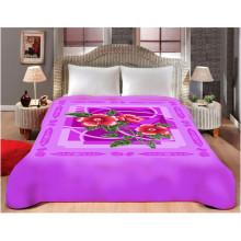 Impressão personalizada & esculpido cobertor de poliéster barato