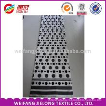 Blanco y negro impresión barata 100% algodón ropa de cama