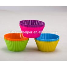 Personalizado de venta caliente FDA LFGB Aprobación Alimentos Grado Inicio DIY Resistente al calor Anti-Stick Soft Flexible Silicon Muffin Cups