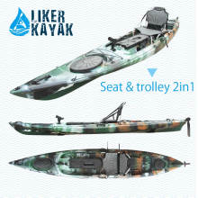 PE Rotomoulded Single Sit on Top Kayak Fishing