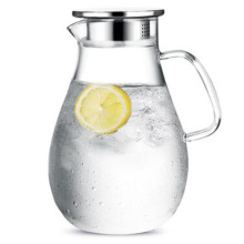 Resistencia al calor Cristal Agua Jarra Bebida Jugo Café Jarro Contenedor Botella