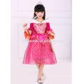 2016 girls long party wear sleeping beauty Aurora princess dress costume