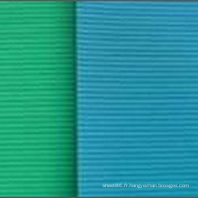 Feuille de caoutchouc d'isolation nervurée mince verte bleue