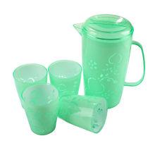 Chaleira de água de plástico com copos (LFR3599)