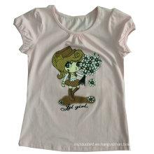 La camiseta de los niños lindos de la moda de los niños en los niños lleva la ropa Sgt-085