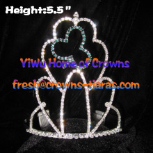 Crystal Clover Shamrock Crowns