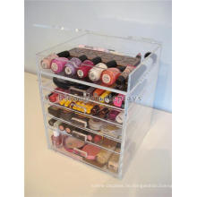 Make Up Shop Promotion Stand Tisch Top 5 Layer Mit Schublade Transparente Acryl Nail Art Display