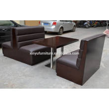 Restaurant booth sofa and dining table set XYN20