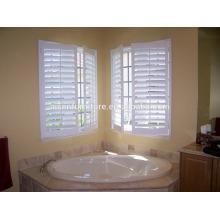 Elegante impermeable vinilo plantaciones persianas de baño persianas blanco pintado obturador de plantación