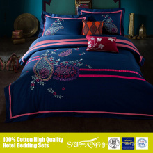 Active printing disperse embroidery textile 4pcs bed sheet bedding sets