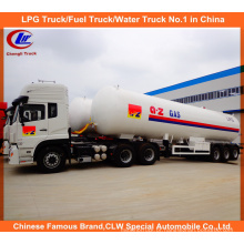 Heavy Duty 3 Eixos LPG Gas Tanker Semi-reboque 25mt para Venda