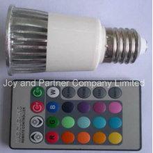 5W RGB Изменение цвета E27 Светодиодная лампа с функцией памяти (E275WMCL)