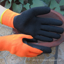 Gant de travail thermique résistant à la couche de latex thermique