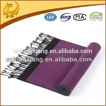 2015 Custom Design Hot Sale Winter Warm 100% Pure Plain Viscose Scarves With Long Tassel