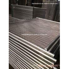 Panel de cerca temporal galvanizado resistente de la pipa de 40m m