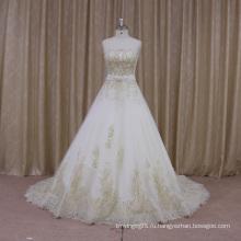 Французским Scalloped Декольте-Line Свадебное Платье