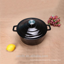 2015 new product enameled small size cooking pot