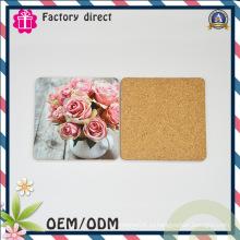 Дизайн цветочной картины Cork Material Coaster