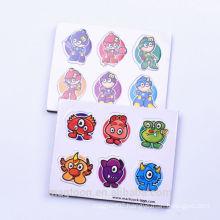 cute cartoon little man and animal design die cut EVA fridge magnet stickers for kids toys