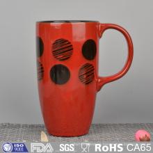Tazas de cerámica esmaltadas coloridas del precio barato