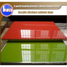 Portes d'armoires de cuisine en acrylique de luxe (personnalisées)