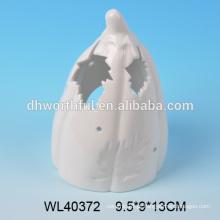 Abóbora branca original do halloween da porcelana com led / tealight