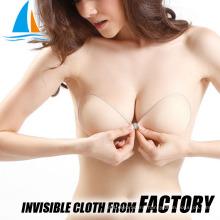 Cloth invisible adhesive strapless bra for 38 bra size