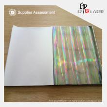Pilar padrão cartão holograma transferir com linha sem costura