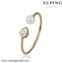 51779 xuping brazalete de perlas elegante chapado en oro de la joyería al por mayor para las mujeres