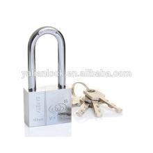 Heavy duty Square Type Long Shackle Vane Key Chrome Plated Iron Padlock