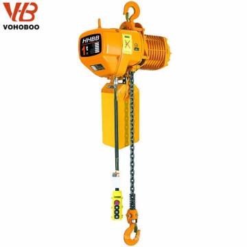 sola velocidad 1 tonelada 2 tonelada 5 toneladas 380v levantamiento de cadena trifásico eléctrico
