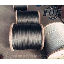 Galvanizado y sin galvanizar cable de acero de fábrica