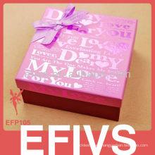 Cajas de joyería de cartón rosa al por mayor